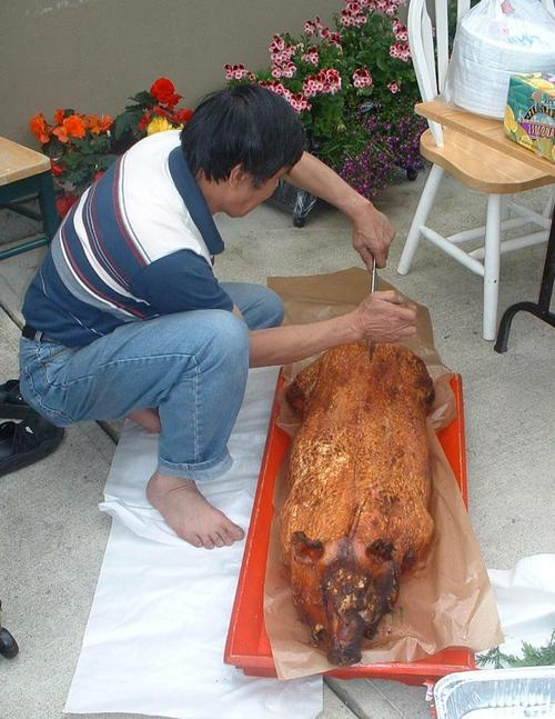Cutting up the Pig